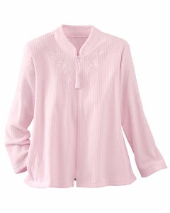 Brushed Back Terry Bed Jacket