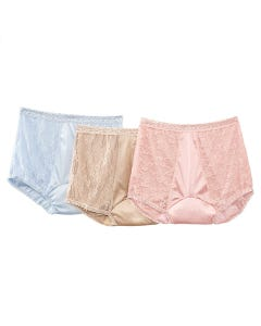 3-Pack Lacy Nylon Incontinence Panty