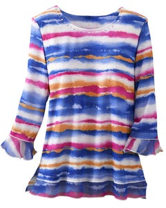 Watercolor Biadere Top
