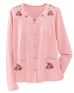 Quilted Knit Bed Jacket by National