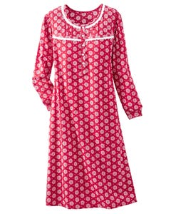 Flannel Snow Flurry Nightgown