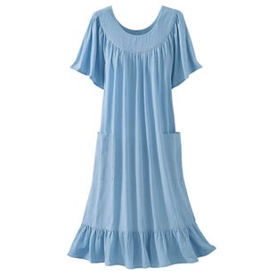 image of Crinkle Cotton Dress with sku:22266-M%PBE