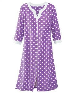 Polka Dot Terry Robe