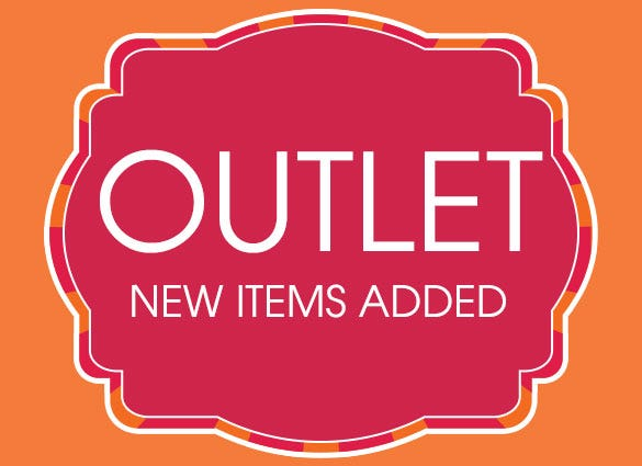 Save up to 65% In our Outlet